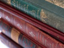 Classics. A stack of old books Stock Photos