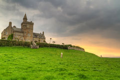 Classiebawn Castle. On Mullaghmore Head at sunset - Co. Sligo Royalty Free Stock Photography