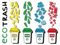 Classificação do lixo de Eco Ilustração do Vetor