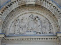 Classificando a escultura Bristro do chapéu esquadre a associação do ` das estudantes universitário de Edimburgo Escócia do salão fotografia de stock royalty free