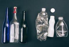 Classificando o desperdício E Reduza reusar recicl fotografia de stock