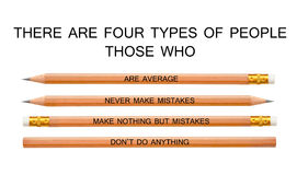 Classificando povos lá seja quatro tipos fotos de stock royalty free