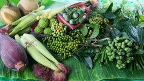 Classificar o ingrediente vegetal local para o alimento tailandês Fotografia de Stock Royalty Free