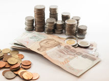 Classificatie van currency& x28; Bath& x29; Stock Fotografie