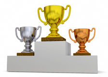 Classification Cup - 3D Royalty Free Stock Photo