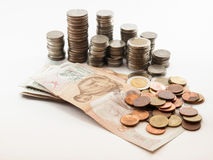 Classification of currencyBath. Sorting by value of the baht Stock Photo