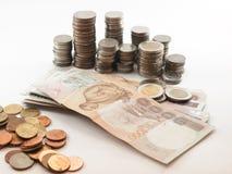 Classificazione di currency& x28; Bath& x29; Fotografia Stock