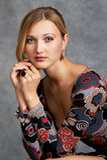 Classifichi la donna dell'alta società di atto Fotografie Stock