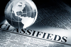 Classified Ad. Fake Classified Ad, newspaper, business concept Royalty Free Stock Photos