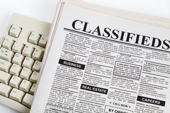 Classified Ad. Fake Classified Ad, newspaper, business concept Royalty Free Stock Photo