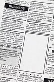 Classified Ad. Fake Classified Ad, newspaper, business concept Stock Photo