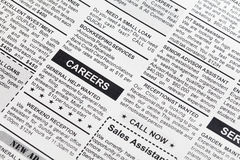 Classified Ad. Fake Classified Ad, newspaper, business concept Royalty Free Stock Image