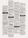 Classified Ad. Fake Classified Ad, newspaper, business concept Stock Image
