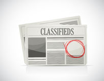Classified Ad, newspaper, business concept. Illustration design Stock Photography