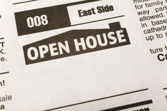 Classified Ad Open House Stock Photography