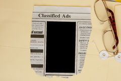 Classified ads. With blank space for your text concept Royalty Free Stock Image