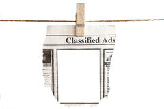 Classified Ads. Blank Classified Ads ready for your text placement on the blank provided Royalty Free Stock Photos