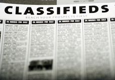 Classified Ads Stock Photography