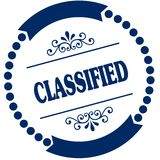 CLASSIFIED blue seal. Stock Images