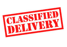 CLASSIFIED DELIVERY Stock Photo