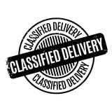 Classified Delivery rubber stamp Stock Images