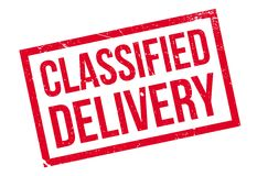 Classified Delivery rubber stamp Stock Image