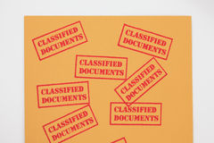 Classified Documents royalty free stock photography