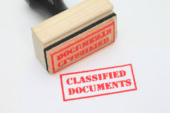 Classified Documents Stamp Royalty Free Stock Photo