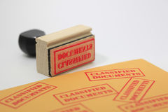 Classified Documents Stamp Stock Image