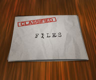 Classified Files on the Table Royalty Free Stock Photography
