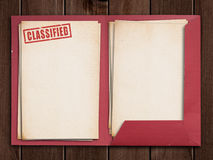 Classified folder Royalty Free Stock Photos