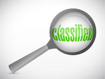 Classified magnify illustration design Royalty Free Stock Photography