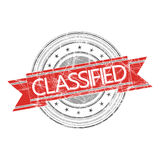 Classified stamp. Classified grunge rubber stamp on white Royalty Free Stock Photos
