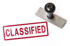 Classified text word stamp. Stock Photo