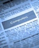 classifieds计算机销售额 免版税库存照片