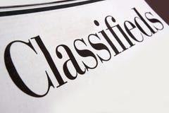 Classifieds Foto de Stock
