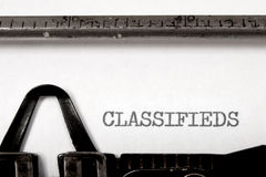 Classifieds Royalty Free Stock Photography