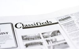 Classifieds Imagem de Stock