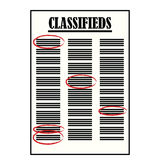 Classifieds Royalty Free Stock Images