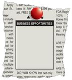 Classifieds business opportunities stock photos