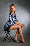 Classifique a mulher da sociedade elevada do ato Imagem de Stock Royalty Free