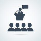 Classifique o grupo de indivíduos tirados, ícone do conferente Foto de Stock
