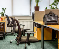 Classik-Bürolandschaft mit Arbeitsatmosphäre Lizenzfreies Stockbild