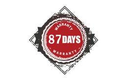 classique de conception de garantie de 87 jours, le meilleur timbre noir illustration libre de droits