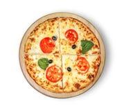 Classique de pizza de margarita Photographie stock