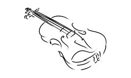 Classique de symbole de signe de musique de dessin d'instrument de violon Photos libres de droits