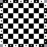 Classique de table d'échecs avec les places encadrées grises et avec le numberin Photo libre de droits