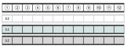 Classic Film Strip - Format 3:2 - Vector. Transparent Film Strip Vector Illustration on White Background - Format 3:2 vector illustration