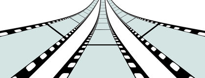 Classic Film Strip - Format 3:2 - Vector. Transparent Film Strip Vector Illustration on White Background - Format 3:2 stock illustration