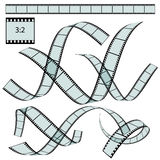 Classic Film Strip - Format 3:2 - Vector. Transparent Film Strip Vector Illustration on White Background - Format 3:2 - Set, Collection royalty free illustration